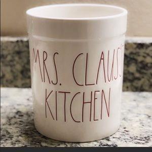 "Rae Dunn ""Mrs. Claus Kitchen"" Utensils Holder NWT"